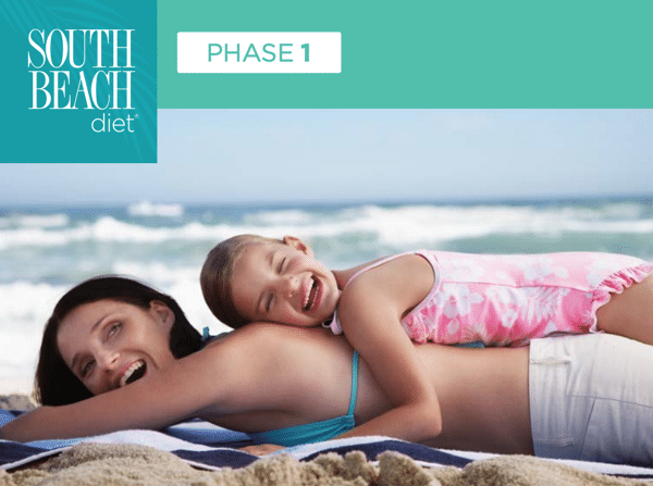 A happy woman completes the South Beach Diet 14 day body reboot