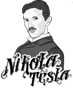 a portrait of nikola tesla