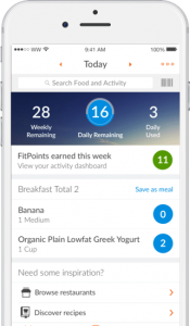the weight watchers app