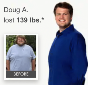 Dough's weight loss results using the Nutrisystem diet