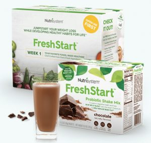 The brand new Nutrisystem FreshStart Week 1 Box and Probiotic Shakes
