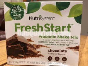 A box of the new nutrisystem freshstart shakes