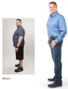 Jerry's personal trainer food before and after picture
