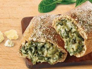 spinach and cheese pretzel melt