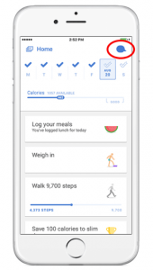 the noom weight loss app on an iPhone