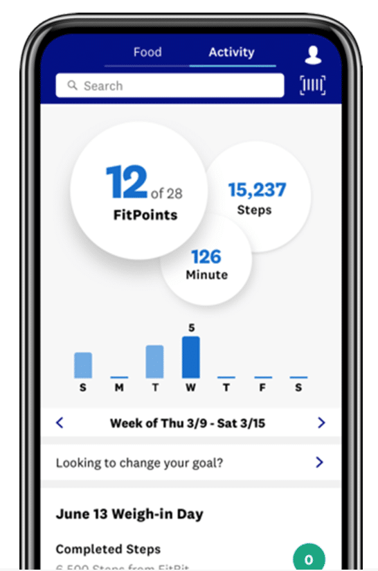 you can also track fitness with the WW app