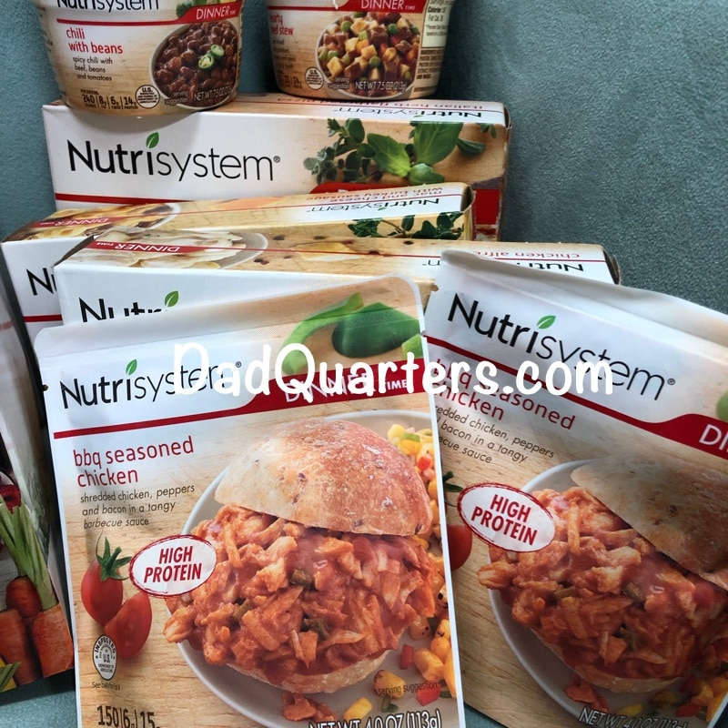 a selection of Nutrisystem foods