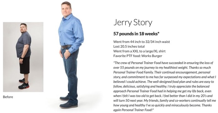 Jerry's amazing before and after results